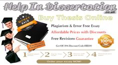 #Help_in_Dissertation is an one of the most popular educational website that is known to offering #Buy_thesis_online UK. These tasks can easily #Buy_the_best_dissertation online at affordable price. Visit Here https://www.helpindissertation.co.uk/buy-dissertation-online  For Android Application users  https://play.google.com/store/apps/details?id=gkg.pro.hid.clients