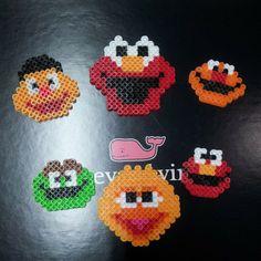 Sesame Street perler beads by yeinbae
