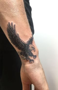 Many tattoos are drawn with a specific meaning and the eagle tattoos are among the most common. They are supposedly the most popular bird tattoos. These tattoos have been around for many years and many . Eagle Tattoo Forearm, Small Eagle Tattoo, Cool Forearm Tattoos, Eagle Tattoos, Eagle Back Tattoo, Forearm Tattoo Design, Small Tattoos Men, Trendy Tattoos, Popular Tattoos