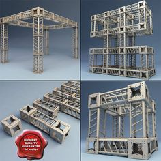model: Steel Truss collection is a versatile set of 14 high quality models to add more details and realism to your rendering projects. Steel Trusses, Roof Trusses, Truss Structure, Steel Structure, Dream Home Design, House Design, Structural Model, Concert Stage Design, Roof Truss Design