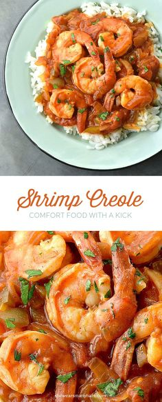 Shrimp Creole is delicious comfort food with a kick! Creole Recipes, Cajun Recipes, Fish Recipes, Seafood Recipes, Dinner Recipes, Cooking Recipes, Healthy Recipes, Aloo Recipes, Quick Recipes