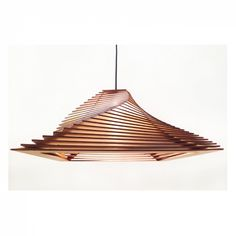 """VELA CLASSIC(by VELA DESIGN) My first design line is called """"parametric enlightenment"""", resulting in the """"vela classic"""" lamp, with much more to come. So let there be light. Deco Design, Wood Design, Pendant Lamp, Pendant Lighting, Rattan Lampe, Laser Cut Lamps, Deco Cool, Wooden Lamp, Lampshades"""