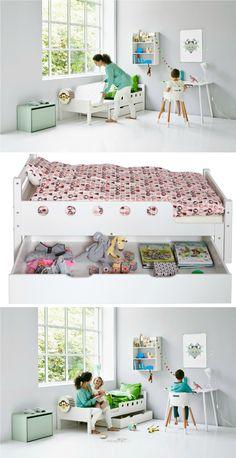 White Junior Bed de FLEXA | petit-on.com