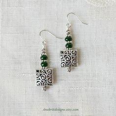 Green earrings Hypoallergenic Jade earrings Boho Earrings