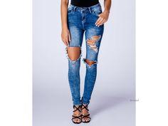 Dámské roztrhané džíny - TOP pro módní duši Made In Uk, Skinny Jeans, How To Make, Pants, Diy, Fashion, Trouser Pants, Moda, Bricolage
