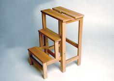 Trittleiter Hockerleiter von Radius in Buche massiv, Leiterhocker aus Holz