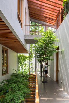 vo trong nghia extends park space into its forested residential interior - Dream Home - Architecture Modern Tropical House, Tropical House Design, Tropical Houses, Modern House Design, Tropical Architecture, Sustainable Architecture, Sustainable Design, Architecture Design, Sustainable Houses