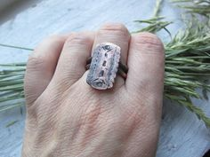Bohemian Ring Copper Ring Gift for Her  Rustic by MaryBulanova