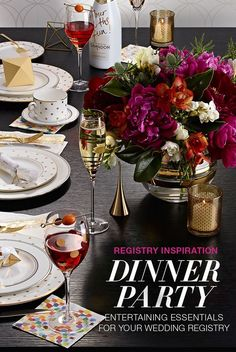 Dinner Party Wedding Registry Inspiration