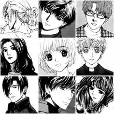 Ghost Hunt series  I really love this manga. A good manga always has roles whom each role has unique and clear characteristic. A good art can tell by how could we identify the character by only seeing the eyes. And a good story must have some unpredictable plots with a happy ending. And Ghost Hunt series got them all.