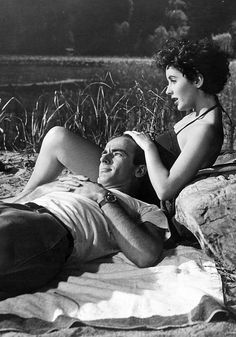 Montgomery Clift and Elizabeth Taylor in A Place in the Sun(1951)