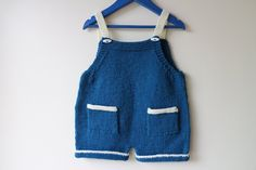 Kids Dungarees Hand Knitted / Romper Suit / Knitted Kids Overalls/ Hand Knitted Romper Suit by RocoKnitwear on Etsy