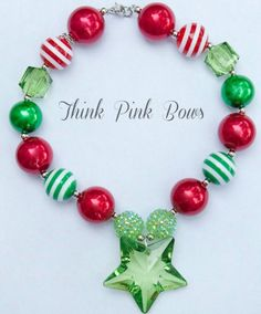 Hey, I found this really awesome Etsy listing at https://www.etsy.com/listing/166683892/christmas-necklace-girls-chunky-necklace