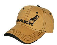 Mack Truck Merchandise - Mack Truck Hats - Mack Trucks Gold Contrast Stitch Logo Cap - Mack Trucks Gold Contrast Stitch Logo Caps