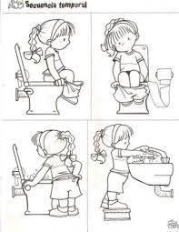 Risultati immagini per secuencia de habitos de higiene personal para colorear