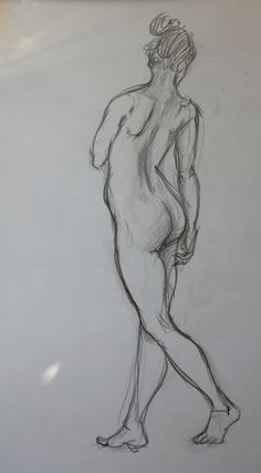 Today's figure drawing session from photo reference  #figuredrawing