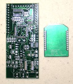 Bare AndroiDAQ circuit board with bare xBee radio compatible circuit board -Bare Boards with Parts List supplied. AndroiDAQ is a data acquisition board for Android, LabVIEW, Java, Python, and more...