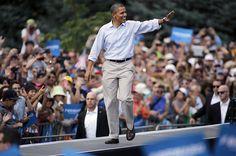 C'est une semaine cruciale pour Barack Obama. Le président sortant (ici en meeting électoral au campus universitaire de Boulder, dans le Colorado ce dimanche) va tenter de convaincre les Américains encore indécis qu'il mérite un second mandat. Car, un peu plus de deux mois avant la présidentielle du 6 novembre, les sondages montrent une égalité quasi parfaite entre Romney, fraîchement investi par les républicains, et Obama. Alors, les démocrates vont à leur tou
