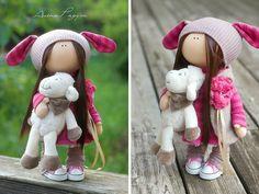 Hecha a mano muñeca juguete Tilda muñeca por AnnKirillartPlace