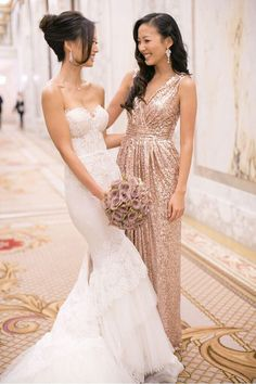 I don't want the girls wedding dress but I would want my maid of honor to wear the other girls dress.