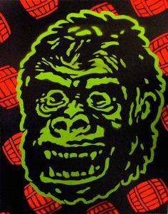 Donkey Kong #stencil #nintendo