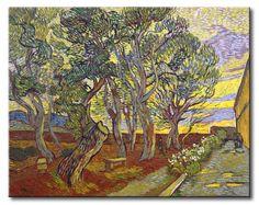 MU_VG2073 t_Van Gogh _ The garden bench at Saint Pauls Hospital / Cuadro Paisaje, Banco del jardin del Hospital de Saint Pauls