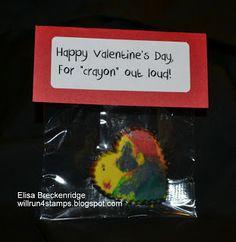 Will Run 4 Stamps: Kindergarten Valentines