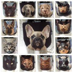 Cute durable 3D bags unique dog cat pattern handmade in EU – Limitless Bags UK