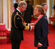 Prince Charles meets Led Zeppelin frontman Robert Plant ...