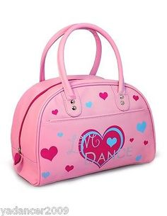 1198ba2f4fd33 Girls Retro Bowling Bag with Love Dance Heart Design Pink Roch Valley |  Children's Dancewear | Dancewear & Accessories