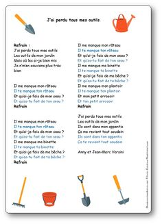 Funny Slogans, French Lessons, Garden Theme, Practical Gifts, Hacks Diy, French Language, Activities For Kids, Teaching, Songs