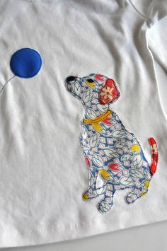Aesthetic Nest: Sewing: Dog Appliqued T-Shirt (Tutorial and Template)