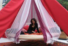 Outdoor Hanging Bed, Hammock bed For Sale Outdoor Hanging Bed, Outdoor Porch Bed, Hanging Beds, Outdoor Bedroom, Outdoor Spaces, Outdoor Living, Hammock Bed, Hammocks, Hammock Stand
