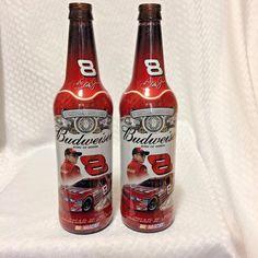 Budweiser Dale Earnhardt Jr NASCAR 8 Collectible Empty Amber Beer Bottles #Budweiser