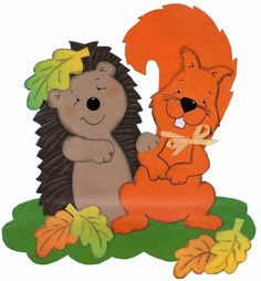 Kreatív gyűjteményem: Ötletek őszi dekorációhoz 2. Fall Paper Crafts, Autumn Crafts, Autumn Art, Autumn Trees, Crafts For Girls, Diy For Kids, Diy And Crafts, Hedgehog Craft, Autumn Activities For Kids