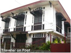 Luna House, Malabon: Built in the the Luna House in flood-stricken Malabon maintains its beauty including the metal cutwork awnings and fancy grillwork in the ventanillas. Spanish House, Spanish Colonial, Colonial Architecture, Residential Architecture, Wooden Window Design, Filipino House, Philippine Architecture, Philippine Houses, Bamboo House