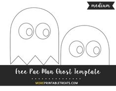 free pac man ghost template medium size