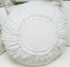 Shabby Chic Inspired - cute round throw pillow