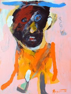 Rick Bartow / Then I Met Miss Ruby , 2011   acrylic on panel    12 x 9 in