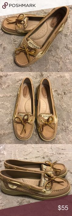 Women's Gold Sparkle Sherry Slip On Size 6.5 Worn these once. They are practically new. Nothing is wrong with them. Just trying to clear my closet. They legit still smell brand new! Sperry Top-Sider Shoes Flats & Loafers