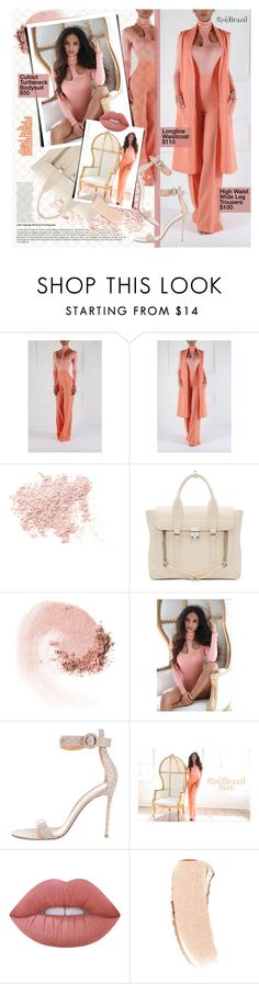 """""""Untitled #1264"""" by noviii ❤ liked on Polyvore featuring Bare Escentuals, 3.1 Phillip Lim, NARS Cosmetics, Gianvito Rossi, Lime Crime and Bobbi Brown Cosmetics"""