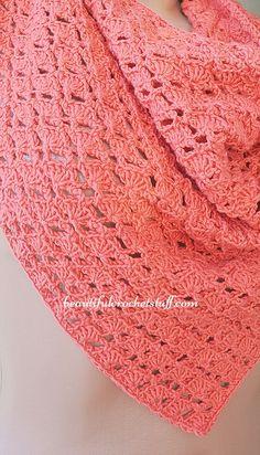 Crochet Triangle Shawl Pattern | Beautiful Crochet Stuff