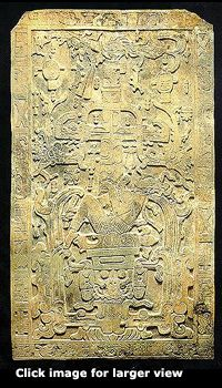 Mayan Astronaut | Forbidden History.   This is a Maya stone carving from Palenque, Chiapas, Mexico. After careful review, many believe it is a detailed representation of a space vehicle- with many recognizable parallels to our own space shuttle, such as the position of the astronaut. While stylized, many see clear depiction of antenna, flight direction system, turbo compressor, control panel, tanks, combustion chamber, turbine, and exhaust.