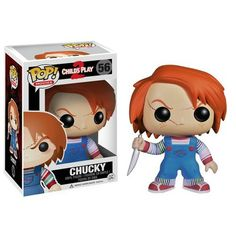 This is a Chucky POP Vinyl figure produced by Funko. Chucky is awesome and a horror movie legend. In every kid's nightmares, check. Chucky is one of those early scary movie figures that Funk Pop, Pop Vinyl Figures, Pop Action Figures, Funko Pop Horror, Childs Play Chucky, Funko Pop Dolls, Funko Toys, Pop Figurine, Game Of Thrones