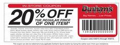 20%off one item good now thru 4/30/15