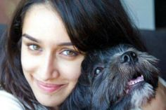 Shraddha Kapoor with her pet dog