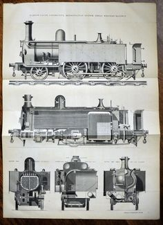 A very rare antique engraving of narrow-gauge locomotive metropolitan system, Great Western Railway. This fine, sharp engraving was made for