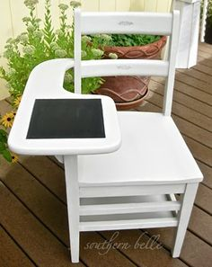 Great idea for that old college chair I've been holding onto!!