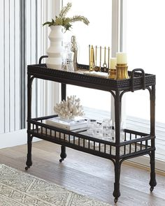 Installing a bar in your home is a great way to make sure that when you have company over everybody has a fun place to spend time together. A dedicated bar Diy Bar Cart, Bar Cart Styling, Bar Cart Decor, Plywood Furniture, Bar Furniture, Royal Furniture, Furniture Dolly, Black Bar Cart, Gold Bar Cart