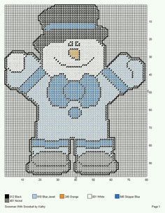 SNOWMAN WITH SNOWBALL by KATHY